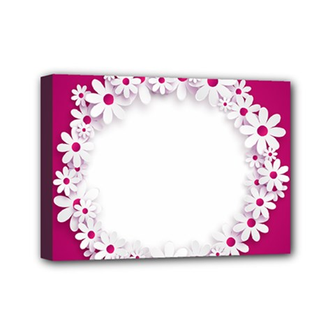 Photo Frame Transparent Background Mini Canvas 7  X 5  by BangZart