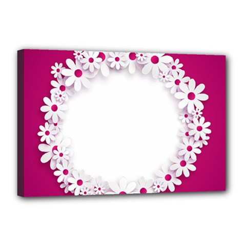 Photo Frame Transparent Background Canvas 18  X 12  by BangZart