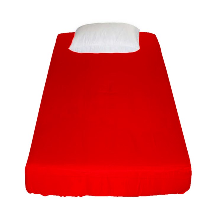 Solid Christmas Red Velvet Fitted Sheet (Single Size)