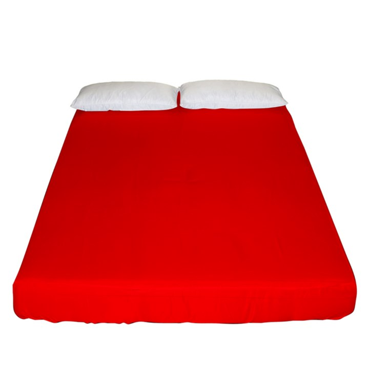 Solid Christmas Red Velvet Fitted Sheet (California King Size)