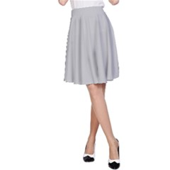 Solid Christmas Silver A Line Skirt