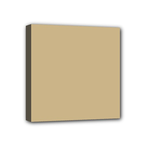 Solid Christmas Gold Mini Canvas 4  X 4  by PodArtist