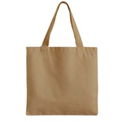 Solid Christmas Gold Grocery Tote Bag by PodArtist