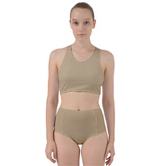 Solid Christmas Gold Bikini Swimsuit Spa Swimsuit