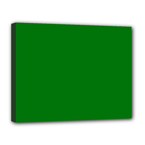 Solid Christmas Green Velvet Classic Colors Canvas 14  X 11  by PodArtist