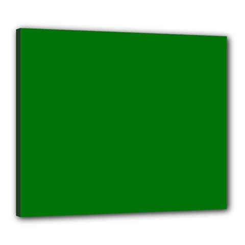 Solid Christmas Green Velvet Classic Colors Canvas 24  X 20  by PodArtist