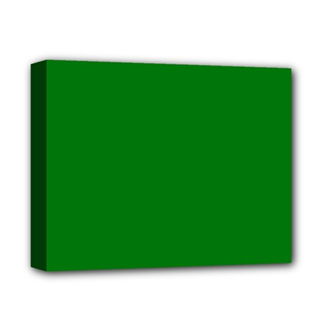 Solid Christmas Green Velvet Classic Colors Deluxe Canvas 14  X 11  by PodArtist