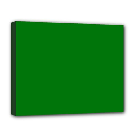 Solid Christmas Green Velvet Classic Colors Deluxe Canvas 20  X 16   by PodArtist