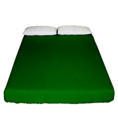 Solid Christmas Green Velvet Classic Colors Fitted Sheet (queen Size) by PodArtist