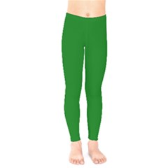 Solid Christmas Green Velvet Classic Colors Kids  Legging by PodArtist