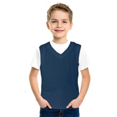 Solid Christmas Silent Night Blue Kids  Sportswear