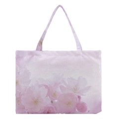 Pink Blossom Bloom Spring Romantic Medium Tote Bag by BangZart