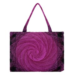 Purple Background Scrapbooking Abstract Medium Tote Bag by BangZart
