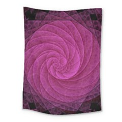Purple Background Scrapbooking Abstract Medium Tapestry by BangZart