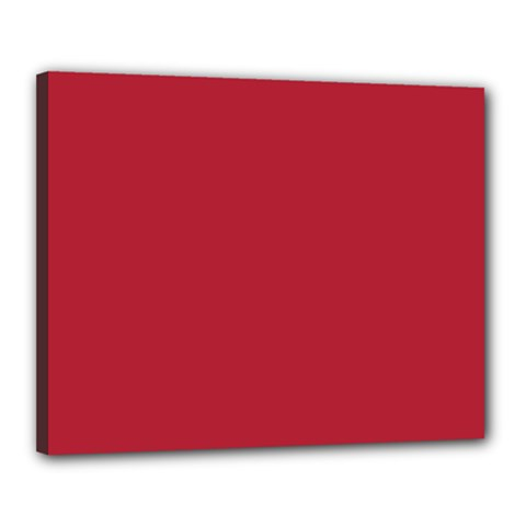 Usa Flag Red Blood Red Classic Solid Color  Canvas 20  X 16  by PodArtist