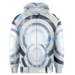 Center Centered Gears Visor Target Men s Zipper Hoodie by BangZart