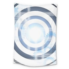 Center Centered Gears Visor Target Large Tapestry by BangZart