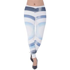 Center Centered Gears Visor Target Velvet Leggings