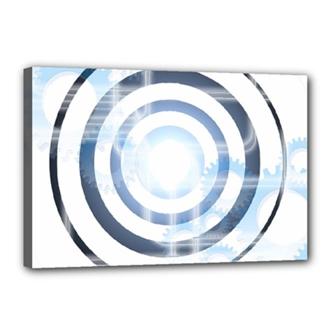 Center Centered Gears Visor Target Canvas 18  X 12  by BangZart