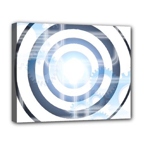 Center Centered Gears Visor Target Deluxe Canvas 20  X 16   by BangZart