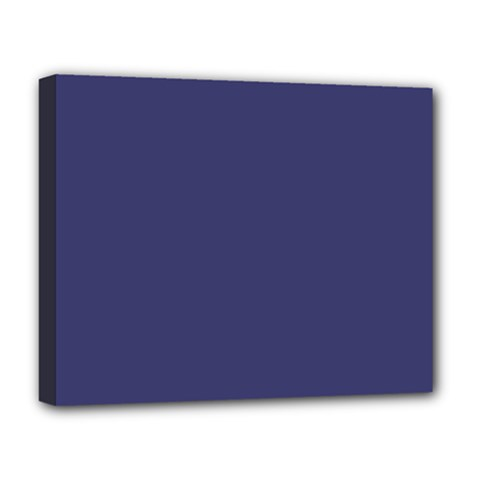 Usa Flag Blue Royal Blue Deep Blue Deluxe Canvas 20  X 16   by PodArtist