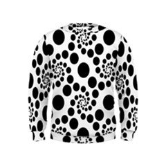 Dot Dots Round Black And White Kids  Sweatshirt