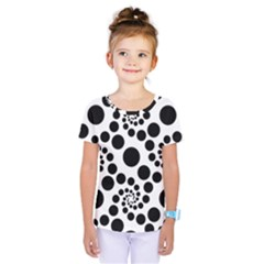 Dot Dots Round Black And White Kids  One Piece Tee