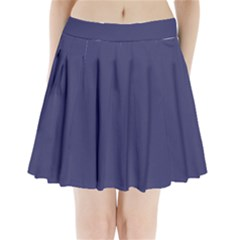 Usa Flag Blue Royal Blue Deep Blue Pleated Mini Skirt by PodArtist