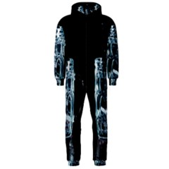 Glass Water Liquid Background Hooded Jumpsuit (men)