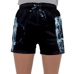 Glass Water Liquid Background Sleepwear Shorts
