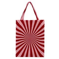 Sun Background Optics Channel Red Classic Tote Bag by BangZart