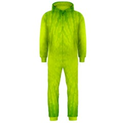 Radial Green Crystals Crystallize Hooded Jumpsuit (men)