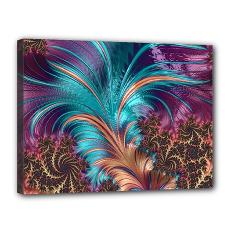 Feather Fractal Artistic Design Canvas 16  X 12  by BangZart
