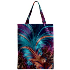 Feather Fractal Artistic Design Zipper Classic Tote Bag by BangZart