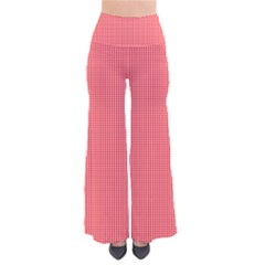 Christmas Red Velvet Mini Gingham Check Plaid Pants by PodArtist