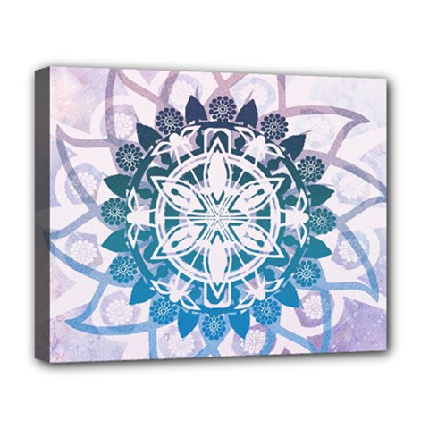 Mandalas Symmetry Meditation Round Deluxe Canvas 20  X 16   by BangZart