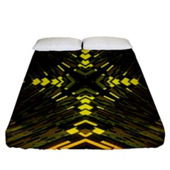 Abstract Glow Kaleidoscopic Light Fitted Sheet (queen Size) by BangZart