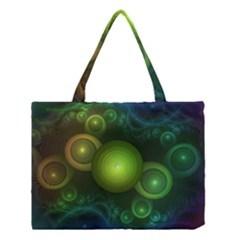Retrotacular Rainbow Dots In A Fractal Microscope Medium Tote Bag by jayaprime