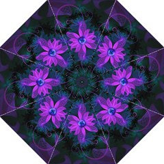 Beautiful Ultraviolet Lilac Orchid Fractal Flowers Folding Umbrellas by jayaprime
