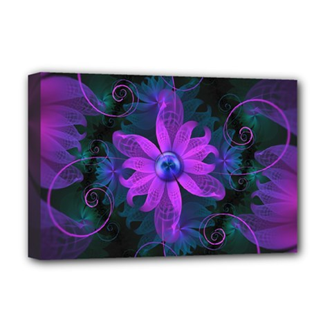 Beautiful Ultraviolet Lilac Orchid Fractal Flowers Deluxe Canvas 18  X 12   by jayaprime