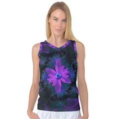 Beautiful Ultraviolet Lilac Orchid Fractal Flowers Women s Basketball Tank Top by jayaprime