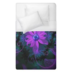 Beautiful Ultraviolet Lilac Orchid Fractal Flowers Duvet Cover (single Size) by jayaprime