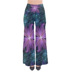 Pink And Turquoise Wedding Cremon Fractal Flowers Pants by jayaprime