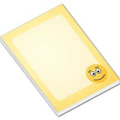 Smiling Face With Open Eyes Large Memo Pads by sifis