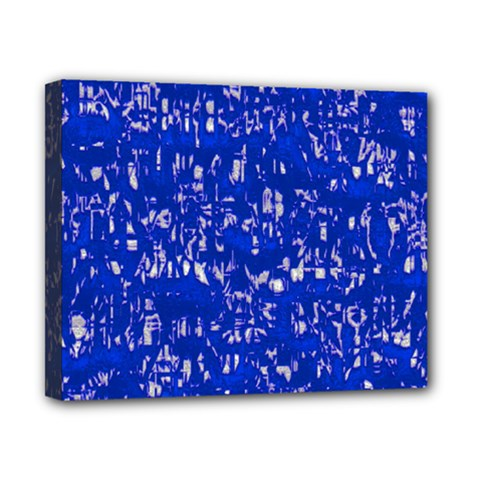 Glossy Abstract Blue Canvas 10  X 8