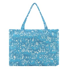 Glossy Abstract Ocean Medium Tote Bag by MoreColorsinLife
