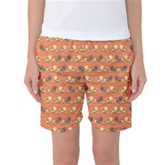 Birds Pattern Women s Basketball Shorts by linceazul