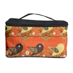 Birds Pattern Cosmetic Storage Case by linceazul
