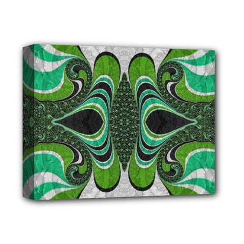 Fractal Art Green Pattern Design Deluxe Canvas 14  X 11  by BangZart