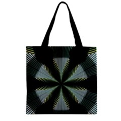 Lines Abstract Background Zipper Grocery Tote Bag by BangZart